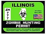 Illinois Zombie Hunting Permit(Bumper Sticker)