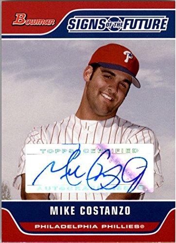 2006 Bowman Autograph Auto - 2006 Bowman Signs of the Future #MC Mike Costanzo Autograph Auto - NM-MT