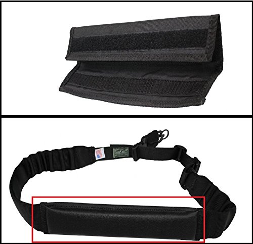 Ultimate Arms Gear Black Sling Mount Strap Shoulder Comfort Pad Padded For AR15/AR10/M4/M16/A2/A1
