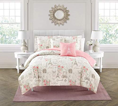 ece Comforter Set, Paris Theme, King ()