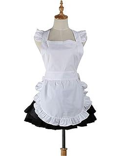 Love patata carino bianco retrò ristorante cucina donne grembiuli per donne  Girls Waitress Apron for Gift f462a01c532f