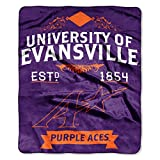 evansville purple aces - Officially Licensed NCAA Evansville Purple Aces Label Plush Raschel Throw Blanket, 50
