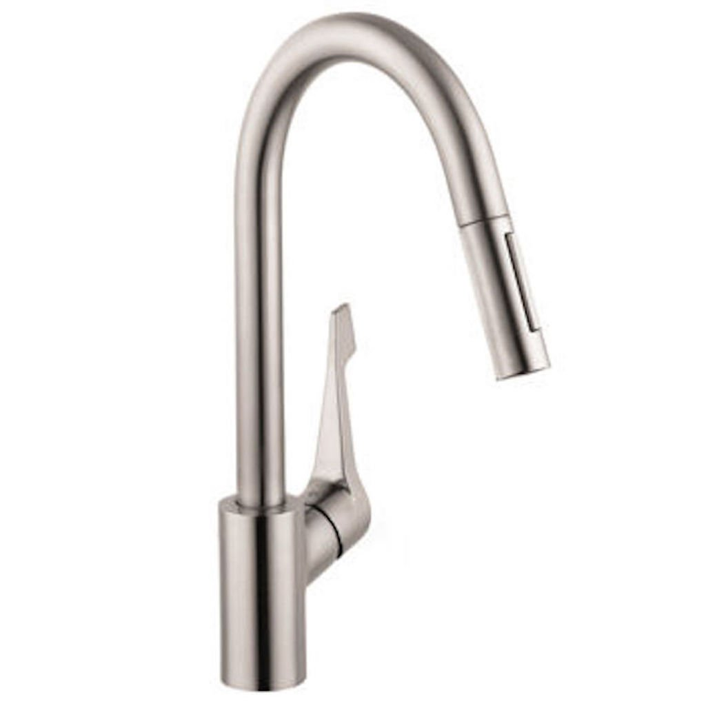 hansgrohe cento higharc kitchen faucet amazon com