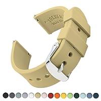 Uhrenarmband von Archer Watch Straps | Silikon Uhrenband mit Schnellverschluss für Klassische Uhr und Smartwatch | Große Farbauswahl, 16mm, 18mm, 20mm, 22mm, 24mm