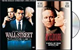 Michael Douglas Action Thrillers 2-DVD Bundle - Michael Crichton's Disclosure & Oliver Stone's Wall Street 2-Movie Set