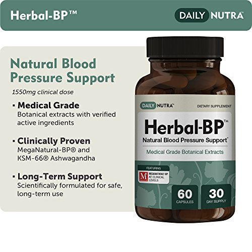 Herbal-BP Natural Blood Pressure Support with Stress Management - Medical Grade Botanical Extracts - Safe, Long-Term Support (3-Pack) by DailyNutra (Image #1)