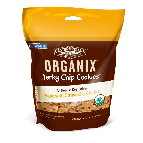 Organix Jerky Chip Oatmeal Cookies Pet Treats, Chicken