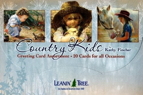 Leanin' Tree Greeting Cards -Country Kids by Kathy Fincher [AST90764] - 20 Greeting Cards with Full-color Interiors (Leanin Tree Boxed Cards)