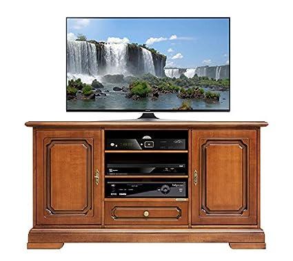 Mobile porta tv classico in legno, credenza per tv 2 porta 1 ...