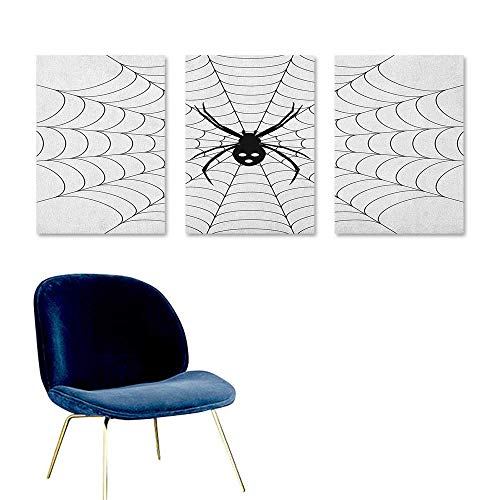 J Chief Sky Spider Web,Wallpaper Sticker Poisonous Bug Venom Thread Circular Cobweb Arachnid Cartoon Halloween Icon Poster Printing Black White W16 x -