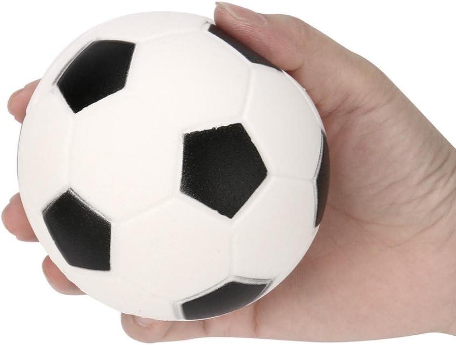 Rony Rass Squishy - Balón de fútbol de 9 cm, Color Blanco y Negro ...