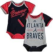 Atlanta Braves Baby / Infant  Descendant  2 Piece Creeper Set 6-9 Months