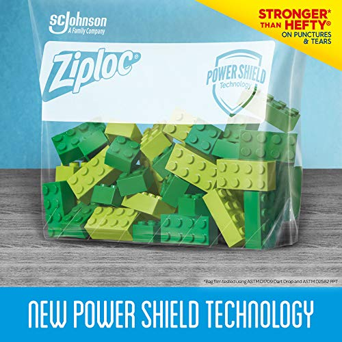 Ziploc Slider Storage Bags with New Powershield Technology, For Food, Sandwich, Organization and More, Gallon, 15 Count