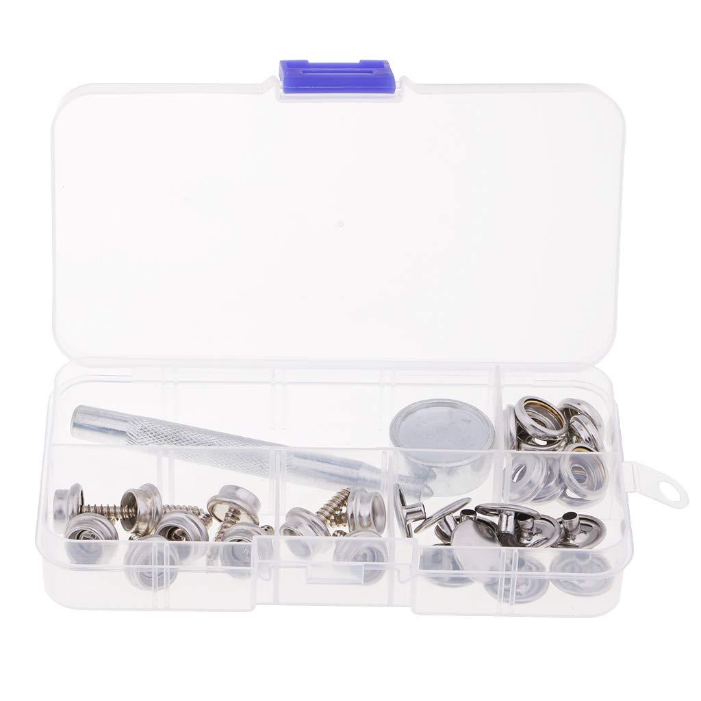metall 10 S/ätze Metallschrauben Druckkn/öpfe Edelstahl Schraube Boot Canvas Kn/öpfe mit Befestigungswerkzeug und Box