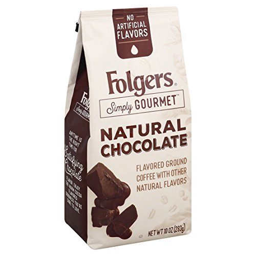 Folgers Simply Gourmet Flavored Ground Coffee with Other Natural Flavors, Chocolate, 10 Ounce