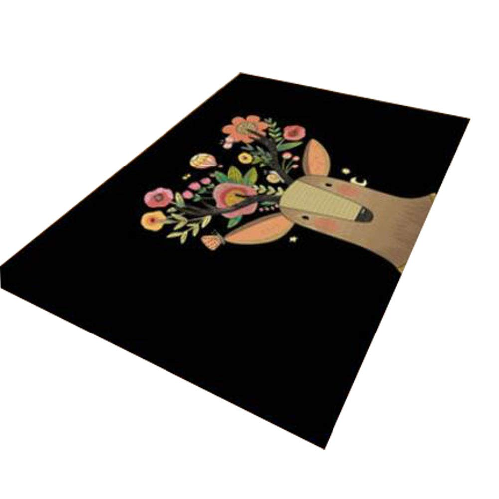 Kids Carpet Play Mat Kids Rug  colorful Activity Centerp Play Mat Great for Playing with Cars and Toys Learn and Have Fun Safe, Deer