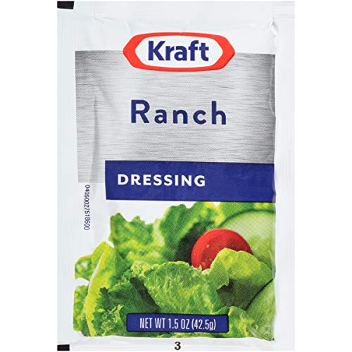 Kraft Ranch Salad Dressing (1.5 oz Packets, Pack of 60)