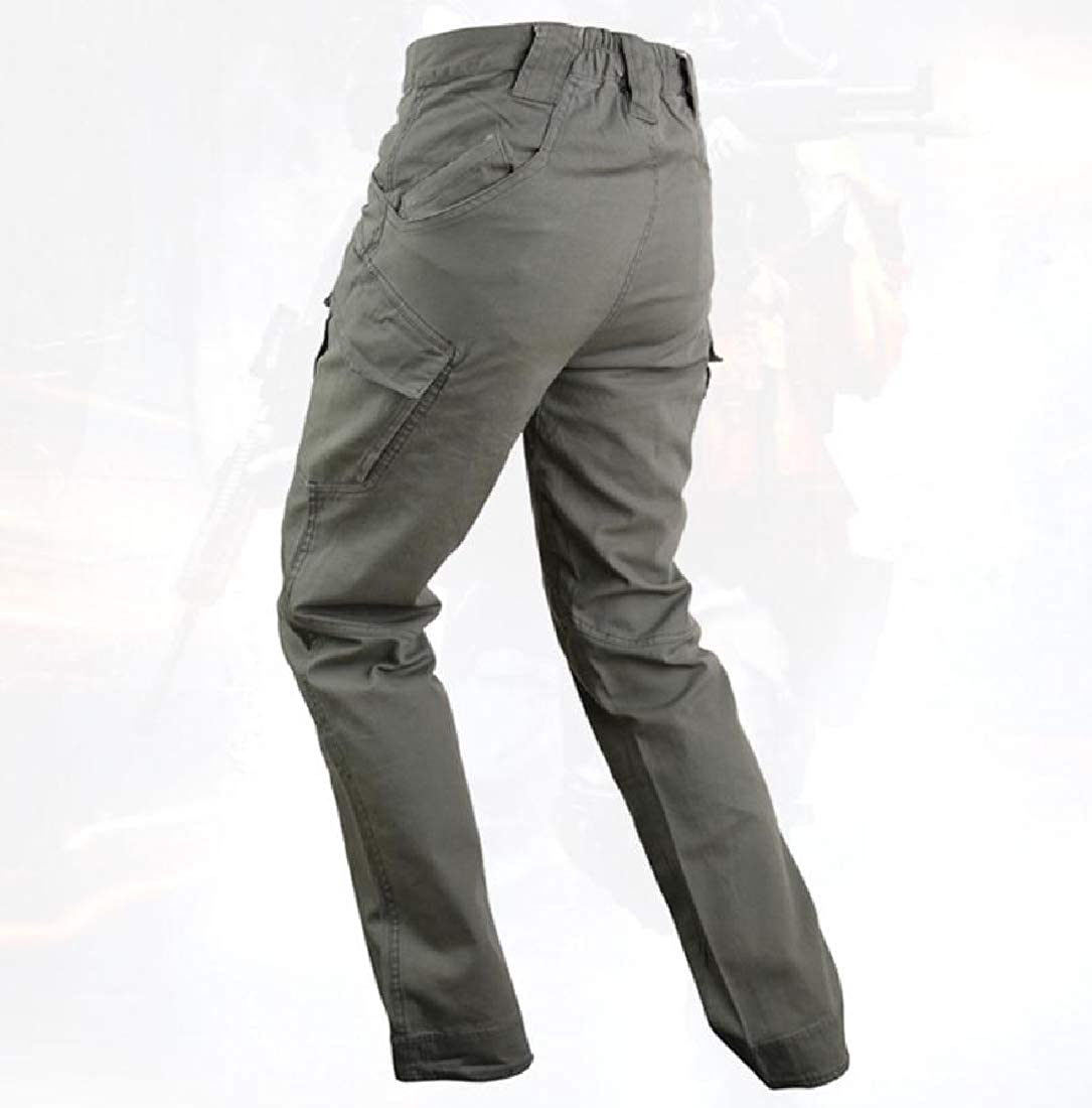 BSTBUWIN Mens Military Work Combat Trousers Cargo Pants