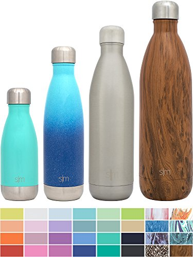 Simple Modern Stainless Steel Vacuum Insulated Double-Walled Wave Bottle, 25oz - Simple Stainless (Wine Metal Bottle)