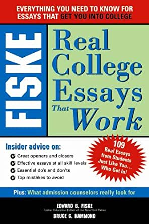 Fiske real college essays that work review