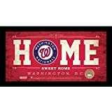 """MLB Washington Nationals Home Sweet Home Sign with Game-Used Dirt from Nationals Park, 6 x 12"""", Red offers"""