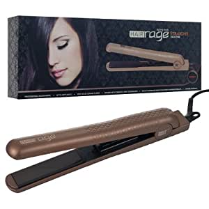 Hair Rage Pro Salon Model Flat Iron, Gunmetal