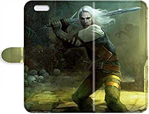 Robert Taylor Swift's Shop Hot New Snap-on Skin Leather Case Cover - The Witcher - silver sword iPhone 4/4s phone Leather Case 1114710PJ664457457I4S