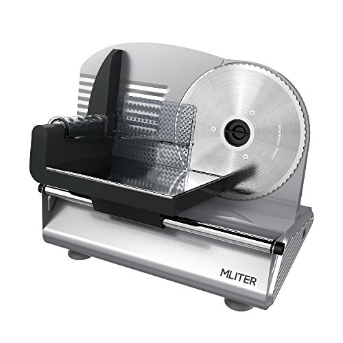 MLITER Electric Food Slicer Precision 19cm Stainless Steel Blade...