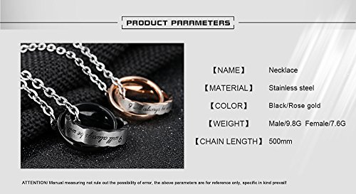 Fate Love ''I will always be with you''Romantic Love Forever Pendant Necklaces Couple Matching Set for Lover by Fate Love (Image #5)