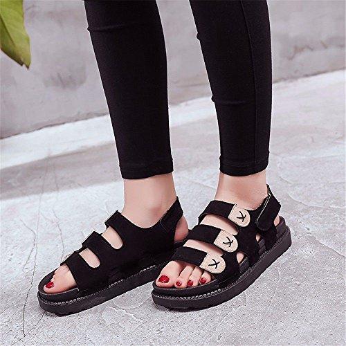 Pantofole D'Estate A Europeo Beige Scivolo Fondo Code Black European 40 All'Aperto Piatto Lady Con BTBTAV 35 Codice xn84p