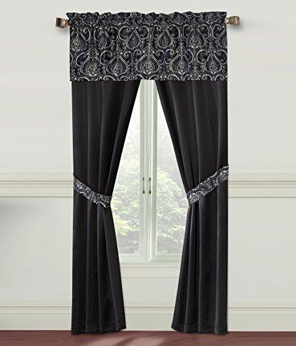 GoodGram Unique 5 Piece Window Curtain Set By Assorted Color