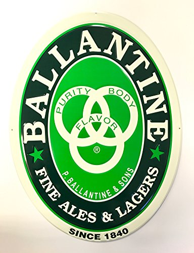 Fine Lager - Ballantine IPA - Fine Ales & Lagers Since 1840 - Metal Sign
