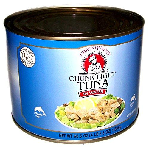 (Chef's Quality Chunk Light Tuna in Water 66.5 oz (4 lb 2.5 oz) 1.88 kg)