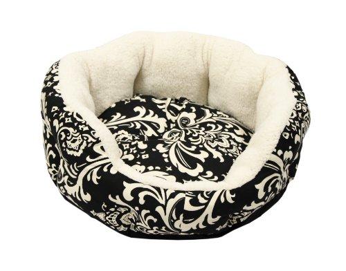 Best Friends by Sheri Duchess Cuddler Amsterdam Pet Bed, 14-Inches Diameter, Small, Black, My Pet Supplies