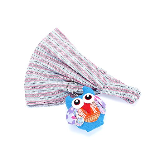 (Peppercorn Kids Striped Bandana Headwrap & Owl Key Chain Set)