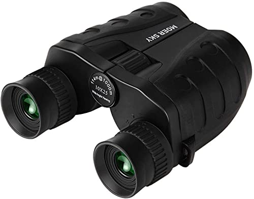 10×25 Folding High Powered Binoculars with Weak Light Night Vision Clear Bird Watching, Great for Outdoor Sports Games and Concerts, Compact Binoculars for Adults Kids