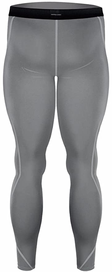 d1b5bf28a0c5eb Amazon.com: JustOneStyle New 019 Skin Tights Compression Leggings Base  Layer Grey Running Pants Mens: Clothing