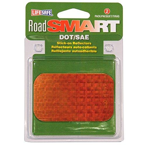 Life Safe: Road Smart Rectangle Stick-On Reflectors High-Visibility, 2
