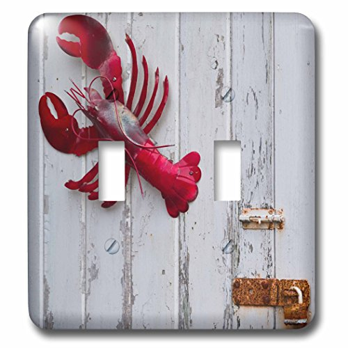 3dRose Danita Delimont - Objects - USA, Maine, Freeport, lobster pound, lobster toys - Light Switch Covers - double toggle switch - Maine Freeport Outlets
