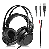 Gaming Headset – Stereo Gaming Headset for PS4, PC, Xbox One ControllerNintendo Switch, VR, Android and iOS LED Lights & Noise-canceling Microphone