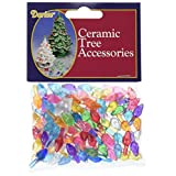 "Darice Ceramic Christmas Tree Bulb .5"" 100/Pkg-Small Flame-Multi"