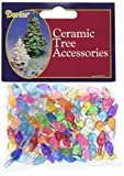 "Ceramic Christmas Tree Bulb .5"" 100/Pkg-Small Flame-Multi"