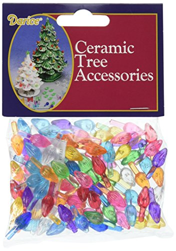 Darice Ceramic Christmas Tree Accessories Small Twist Pin Multi Color, 0.5 Inch (Christmas Ceramic Tree Star Part Replacement)