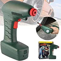 SHREEJI CLUB PORTABLE AIR COMPRESSOR FOR BIKE | CAR WITH BUILT IN LED LIGHT [PACK OF 1]