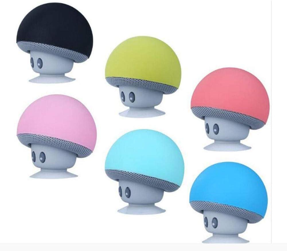 FENGFENGGUO Altavoz Bluetooth, Cabeza de champiñón Pequeña Ventosa Creative Mini Teléfono móvil Soporte para Tableta Estéreo pequeño,Lightblue: Amazon.es: Hogar