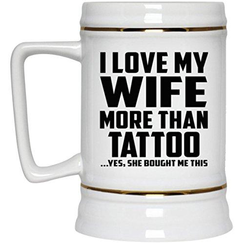 I Love My Wife More Than Tattoo - Beer Stein Jarra de Cerveza, de ...