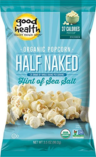 Good Health Organic Popcorn with a Hint of Sea Salt, 3.5-Ounce Bags (Pack of 12)