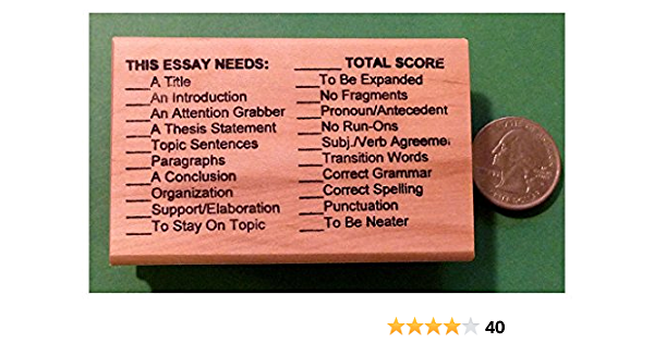 Teachers Writing//Composition Rubber Stamp OutletBestSelling This Paper Needs