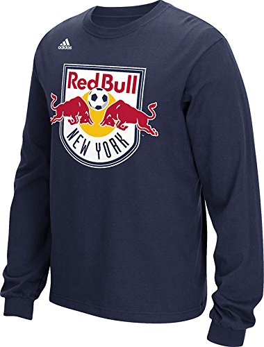 MLS New York Red Bulls Men's Long Sleeve Tee, Navy, Large