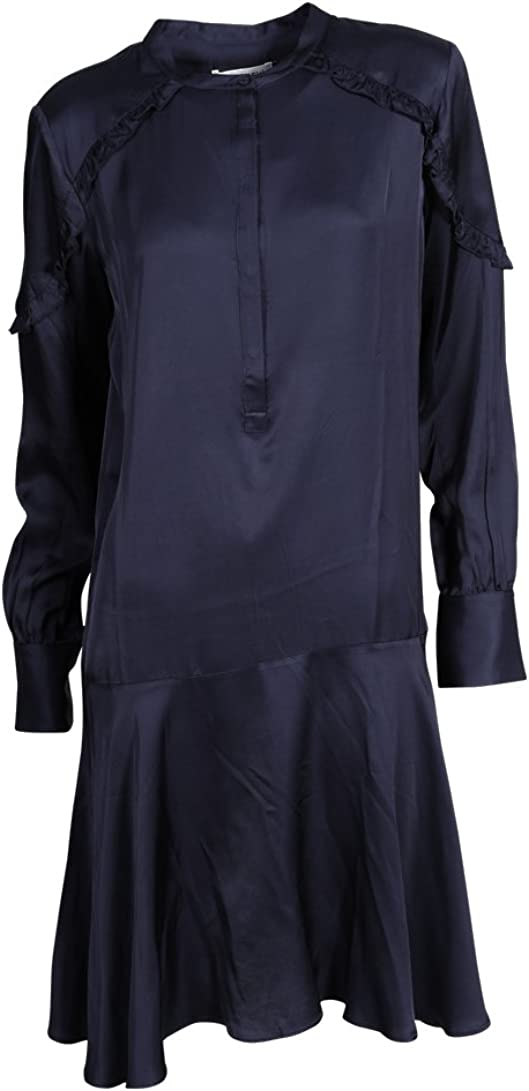 Second Female Damen Kleid Drew aus Viskose in Dunkelblau